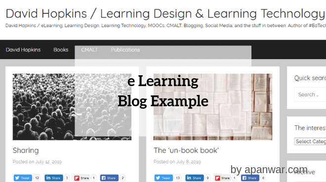 E Learning Blogging Example
