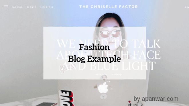 Fashion Blog Example