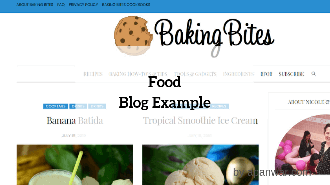 Food Personal Blog Example