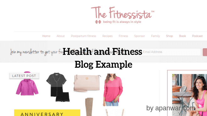 Health and Fitness Blog Example