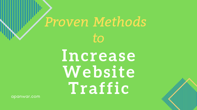 How to increase the website traffic