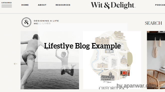 Lifestyle Blog Example
