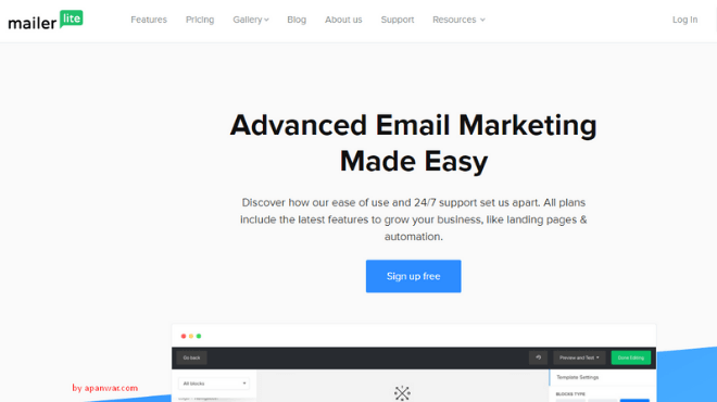 MailerLite Email MAkreting Software for Bloggers