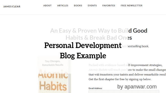 Personal Development Blogging Example