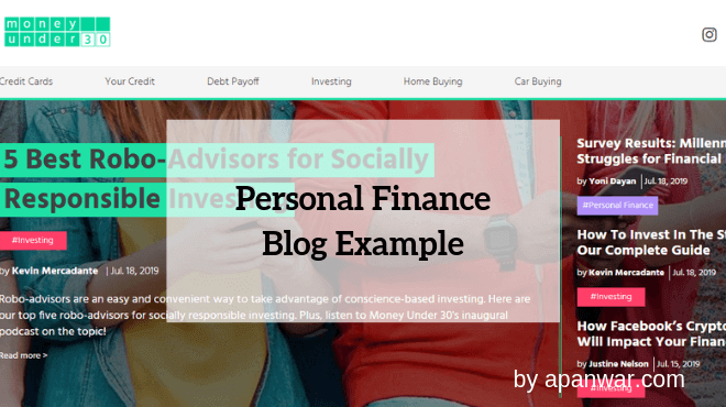 Personal Finance Blog Example