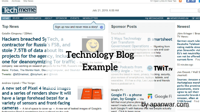 Technology Blog Example