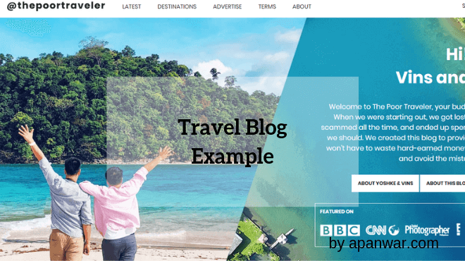 Travel Blog Example