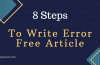 8 Steps to Write an Error Free Blog Post