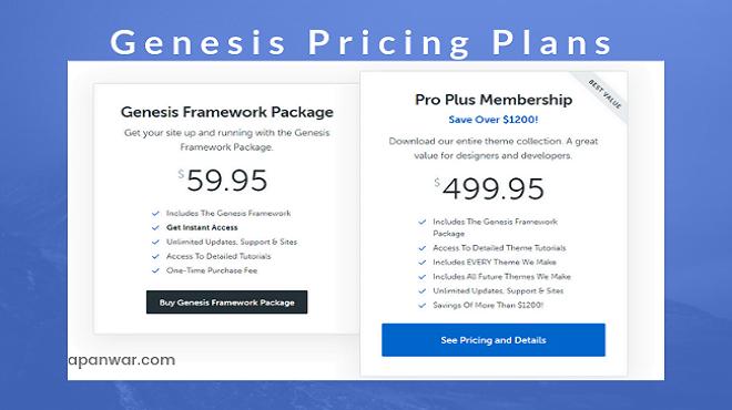 genesis theme price