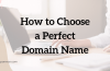 8 Tips To Choose A Perfect Domain Name for Blog or Website
