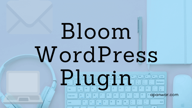bloom email optin wordpress plugin
