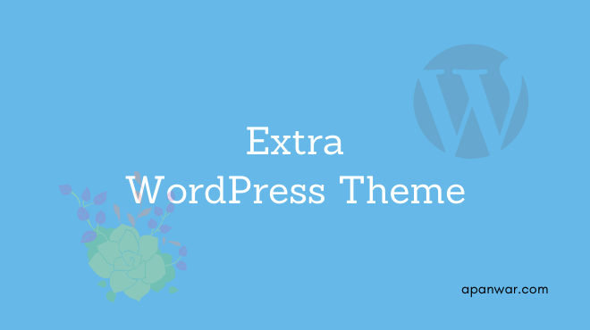 Extra WordPress theme for blogging