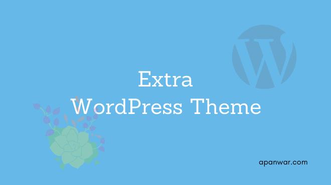 Extra WordPress theme for blogging