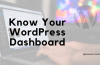 WordPress Dashboard Overview For New Bloggers In 2020