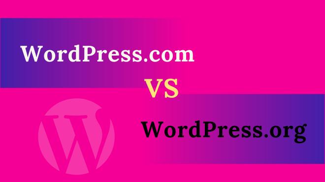 wordpress. com vs wordpress.org which one to choose