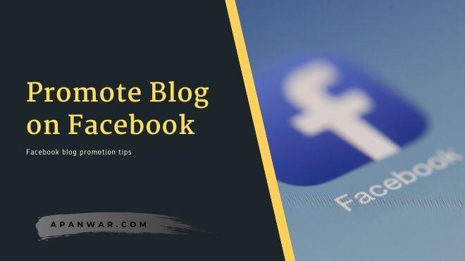 best ways to promote blog on facebook