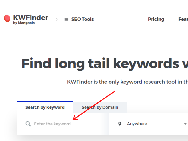 long tail keyword finding
