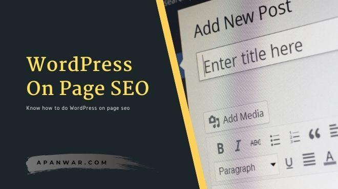 learn how to do wordpress seo